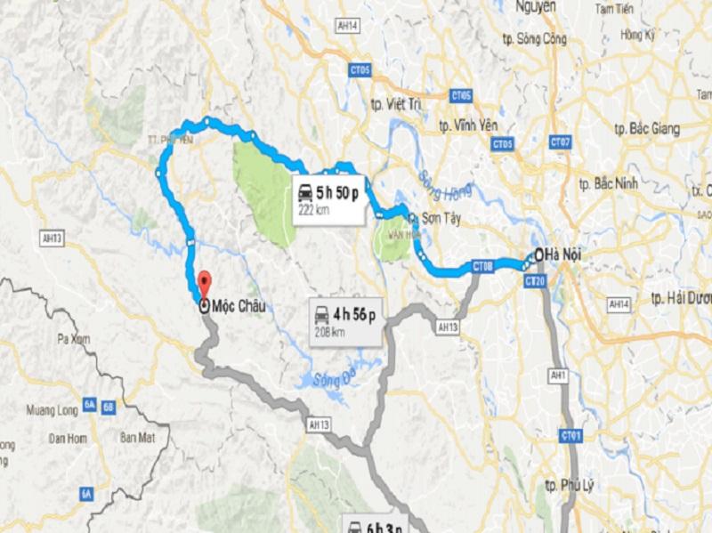 bản đồ du lịch mộc châu