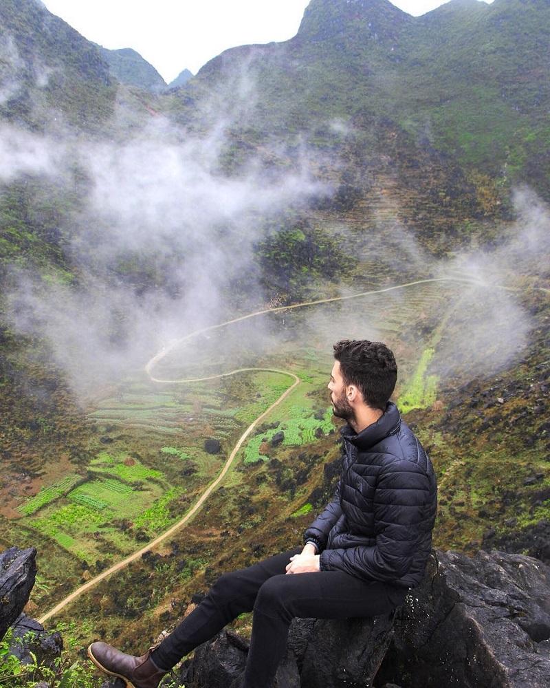 Sương mù bao phủ đỉnh đèo hà giang