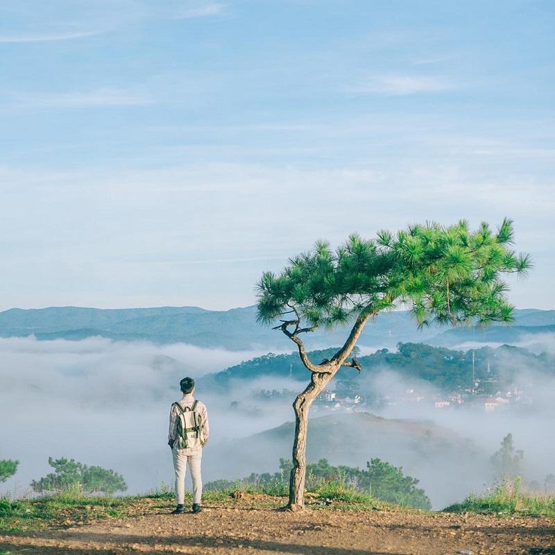 Buổi sáng săn mây trên đỉnh đồi Thiên Phúc Đức Đà Lạt.