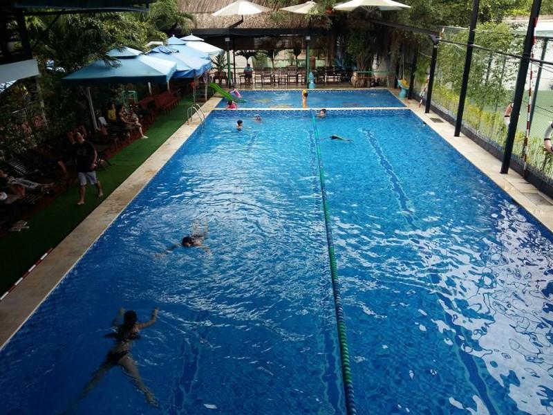 Không gian rộng rãi của hồ bơi Trung Sơn quận 7 nhìn từ trên cao
