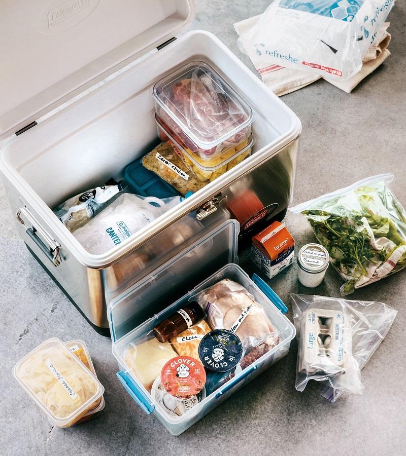 Bảo quản thực phẩm trong túi zip và các hộp đựng