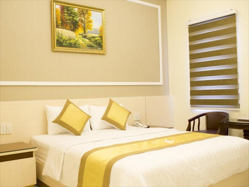 Không gian phòng của khách sạn Hoàng Minh Châu Đà Lạt