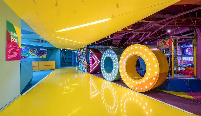 Không gian bên trong khu vui chơi cho trẻ em tại Dóo Entertainment
