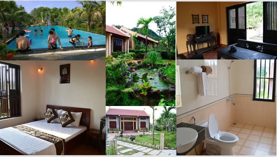 Hồ bơi, phòng ngủ và các khu vực khác ở Zen Resort & Camping