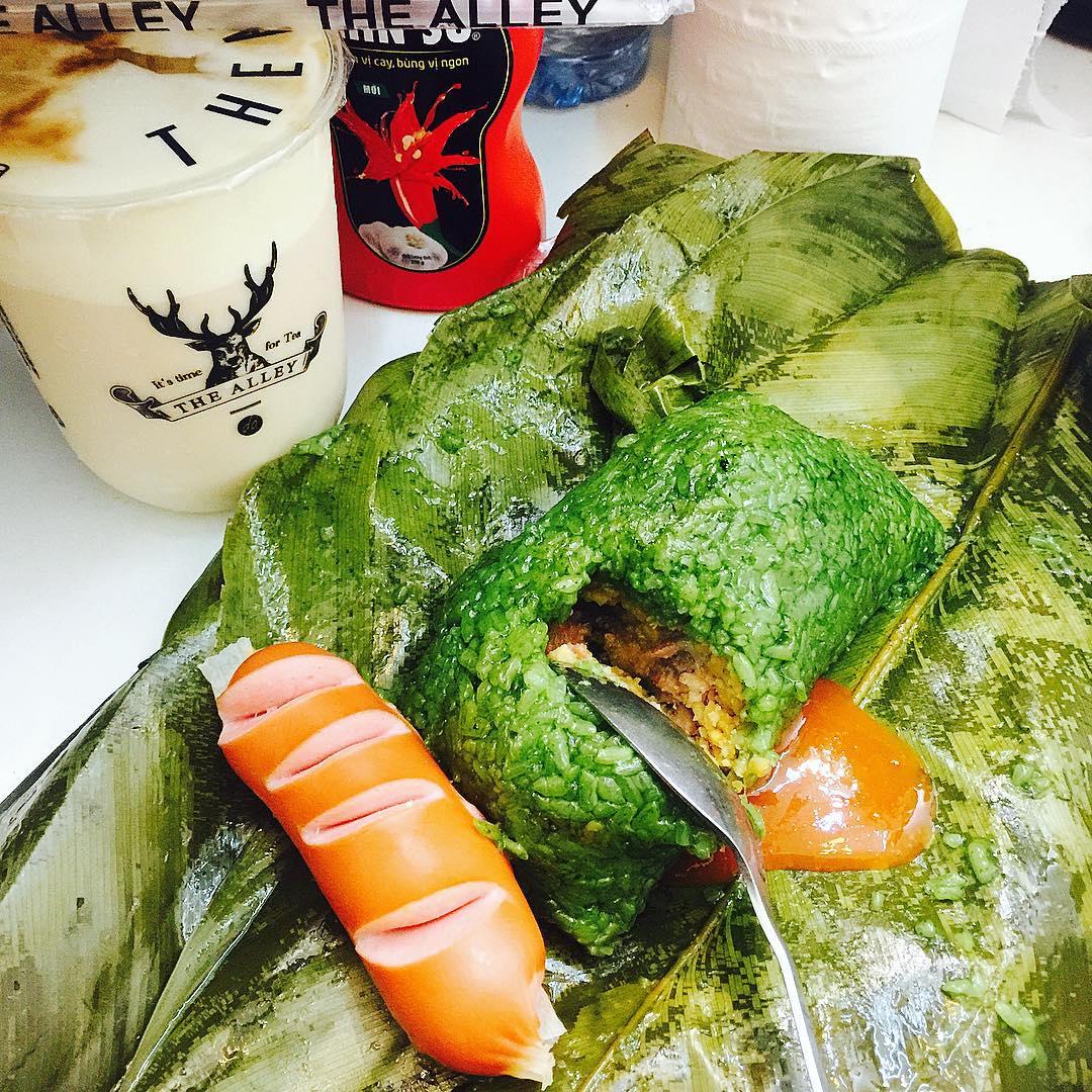 Hương vị bánh chưng gù Hà Giang