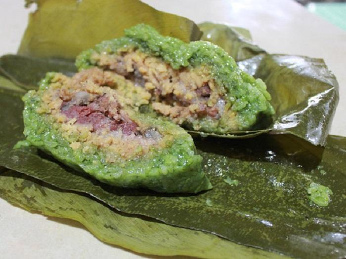 Nhân bánh chưng gù bao gồm đậu xanh và thịt mỡ