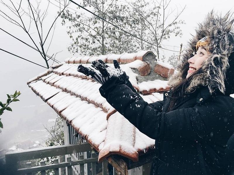 tuyết rơi ở hà giang