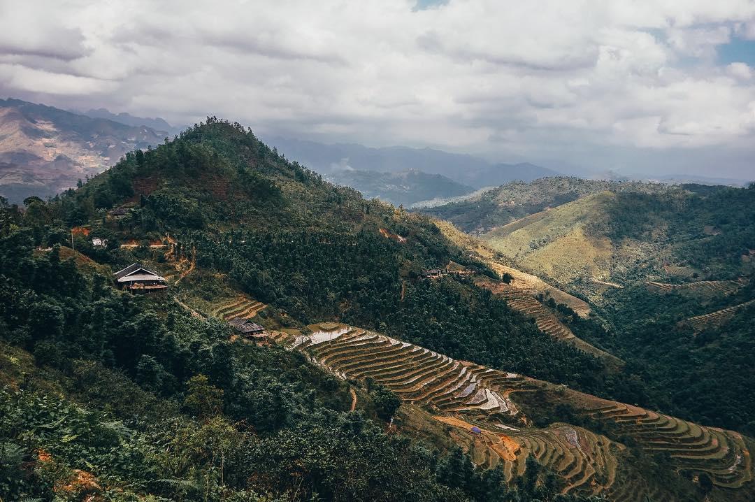 Những cánh đồng ruộng bậc thang mùa nước đổ