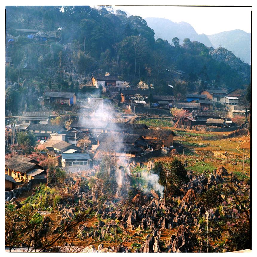 Toàn cảnh bản làng hà Giang từ đỉnh Đồn Cao