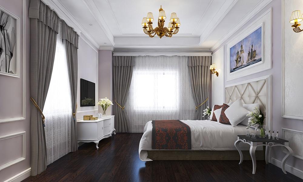 không gian phòng nghỉ tại khách sạn Hoàng Ngọc Hà Giang