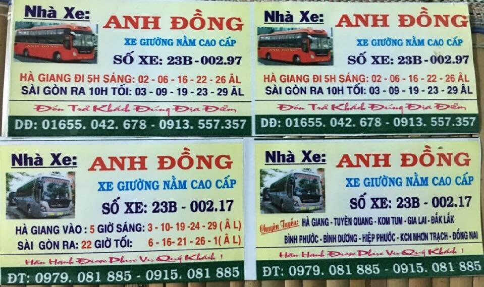 Xe giường nằm Anh Đồng đi Hà Giang