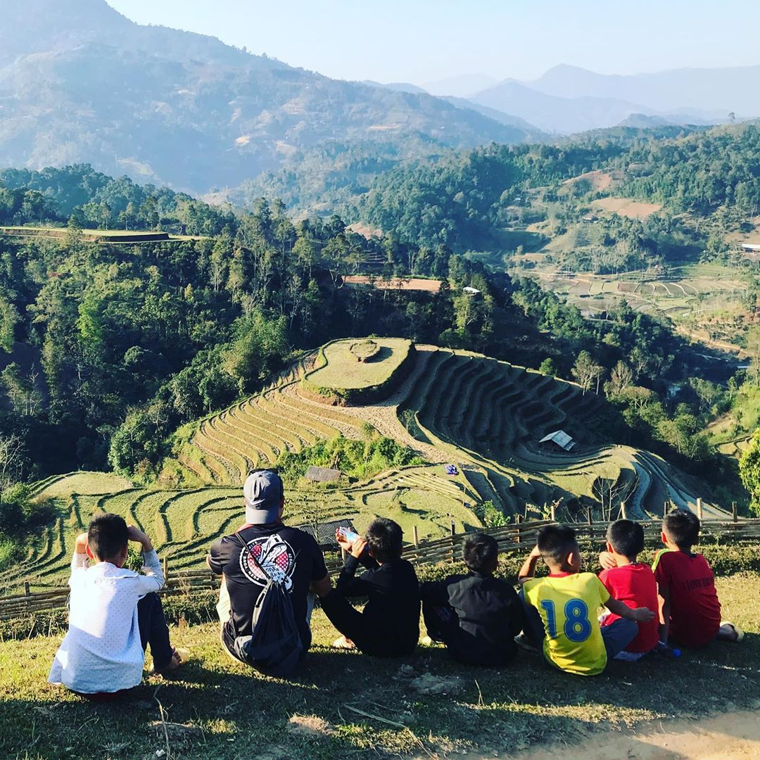 Ruộng bậc Thang Hoàng Su Phì mùa lúa chín nhìn từ trên cao