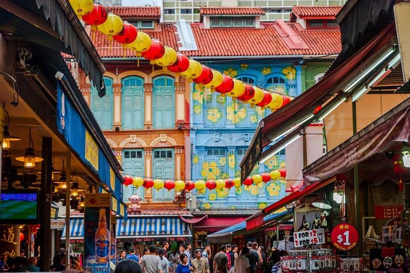 Khu chợ Chinatown tại Sing