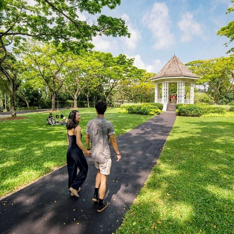 Khu vườn Botanic Singapore là điểm đến lý tưởng để picnic hay dã ngoại