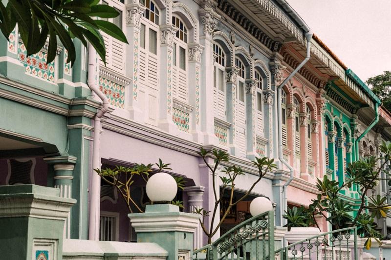Những dãy nhà nhiều màu sắc tại Tiong Bahru