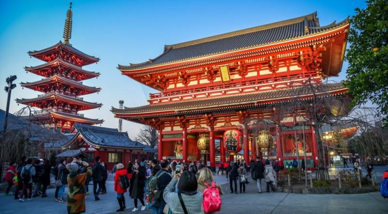 Ngôi chùa Senso-ji luôn tấp nập du khách ghé thăm