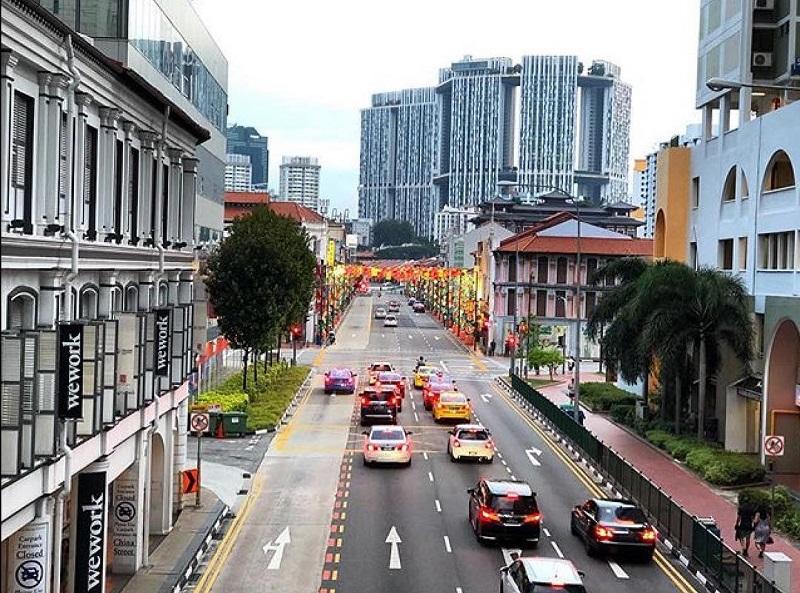 Các phương tiện di chuyển trên đường phố Singapore