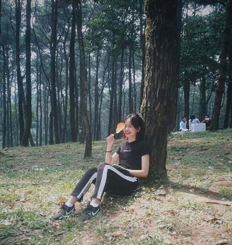 Tận hưởng không gian mát mẻ dưới những tán cây ở VQG Ba Vì