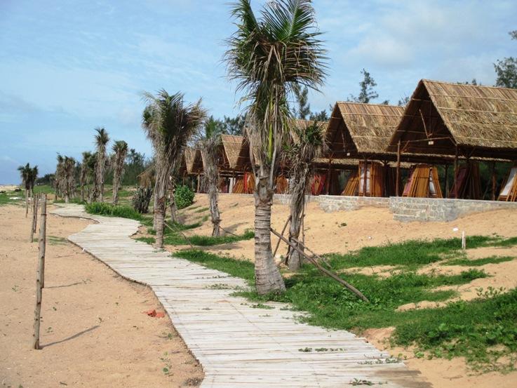 Khu cắm trại Kawasami tọa lạc trên bãi biển