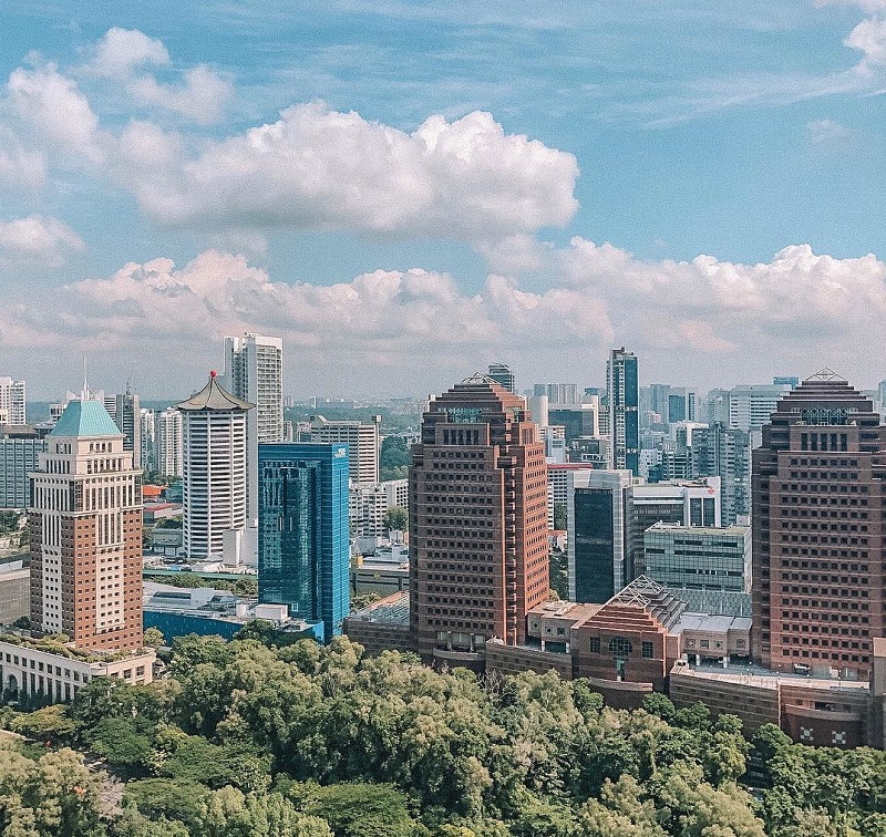 Những tòa cao ốc hiện đại tại Singapore
