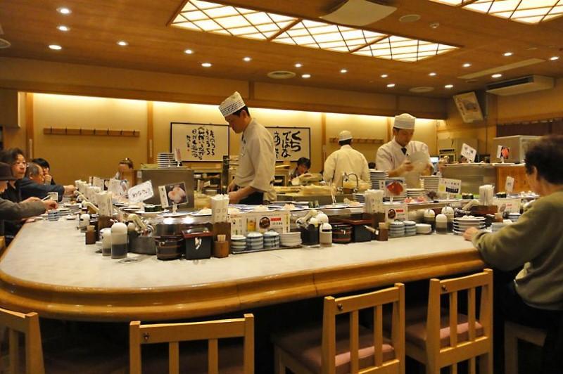 Không gian trong một nhà hàng của Nhật