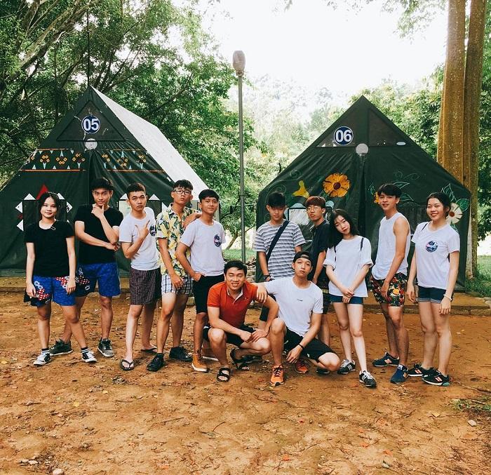 Các bạn học sinh sinh viên thường ghé Madagui để cắm trại
