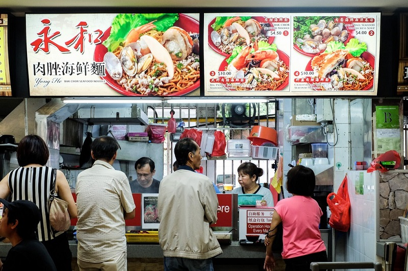 Cửa hàng chuyên bán các món mì Singapore