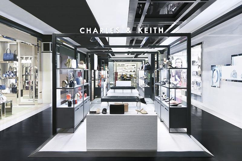 Không gian bên trong showroom Charles&Keith