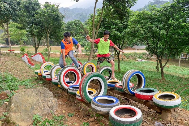 Các trò chơi thú vị ở Sơn Tinh Camp