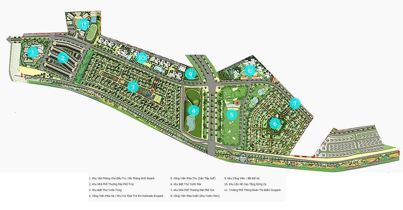 Bản đồ khu đô thị Ecopark