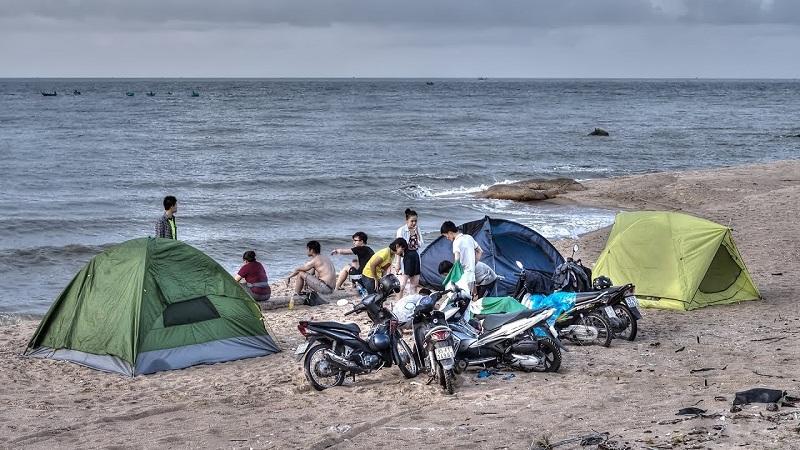 Cắm trại ở bãi biển