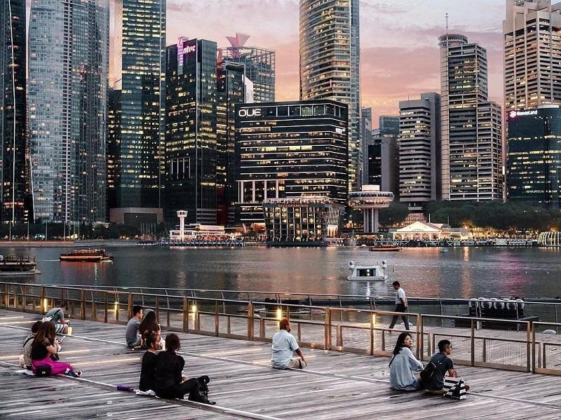 Những tòa cao ốc san sát nhau tại Clark Quay