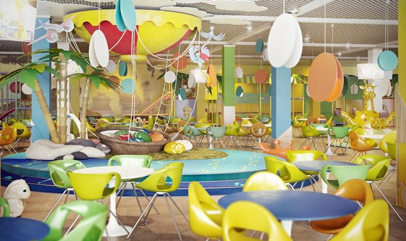 Không gian vui chơi giải trí Funny Land được bài trí đẹp và bắt mắt