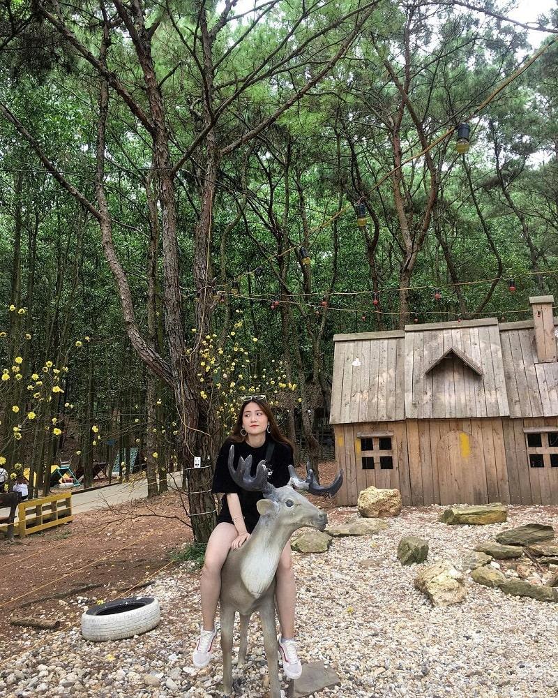 Khu cắm trại Bản Rõm được decor vô cùng đẹp mắt