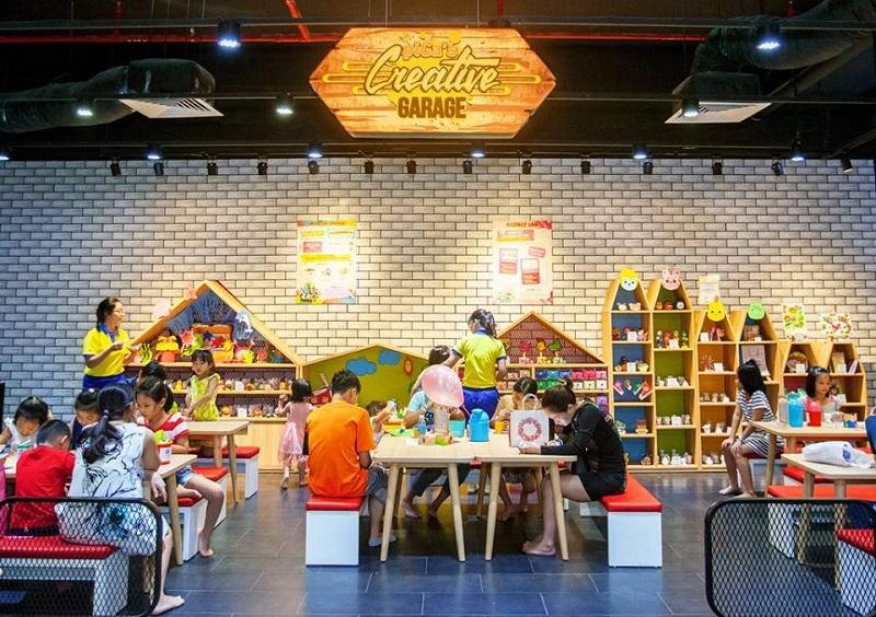Các bé có thể tham gia những trò chơi trí tuệ tại Lion King
