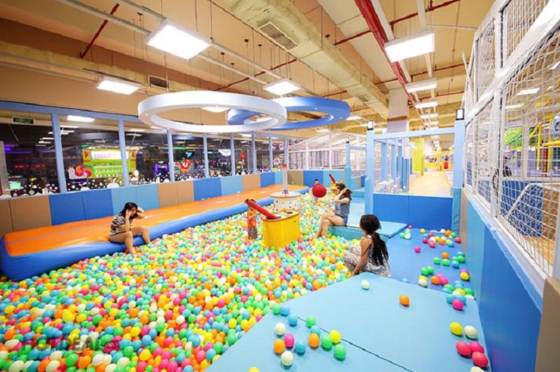 Nhà bóng tại khu vui chơi trẻ em Playtime Lotte Mart