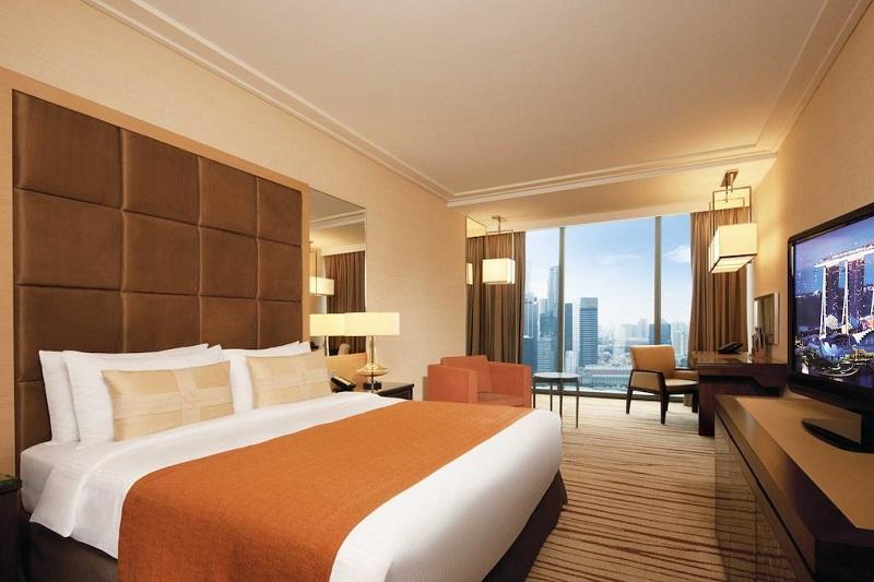 Khách sạn Marina Bay Sands có view cao ốc