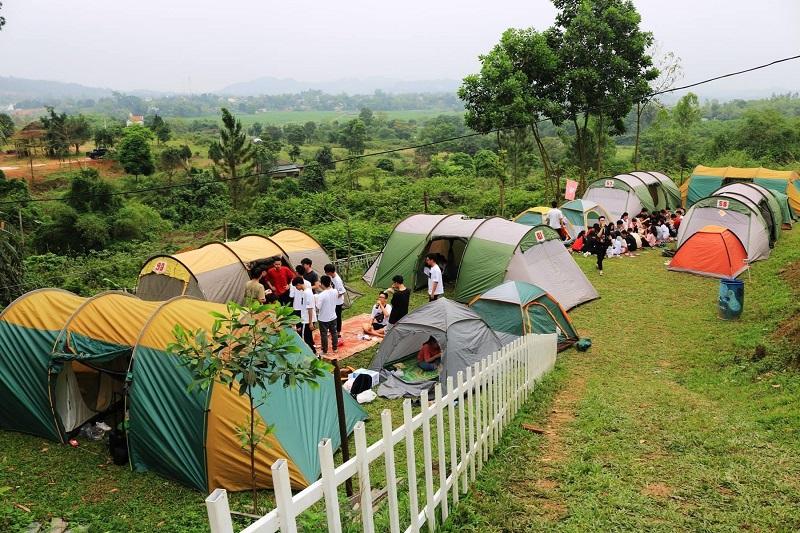 Lều trại tập thể với sức chứa lớn