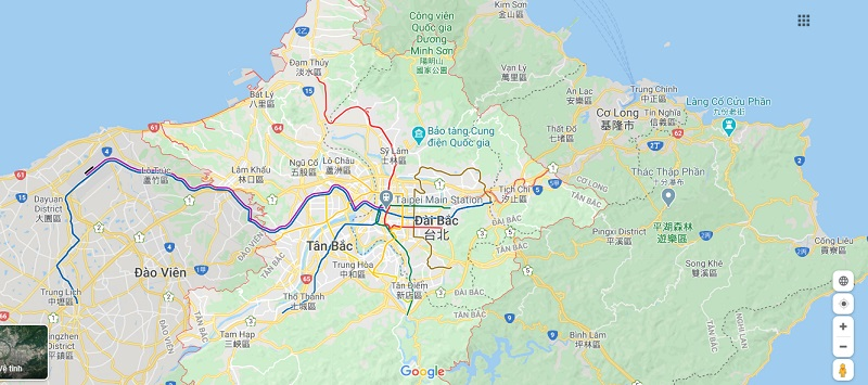 Bản đồ Đài Bắc