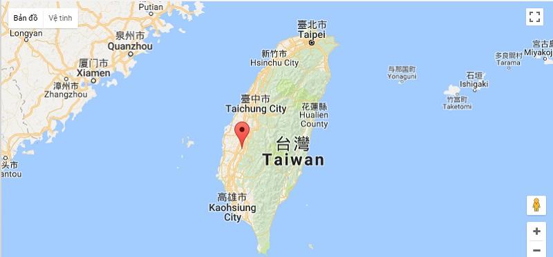 Bản đồ địa lý Đài Loan