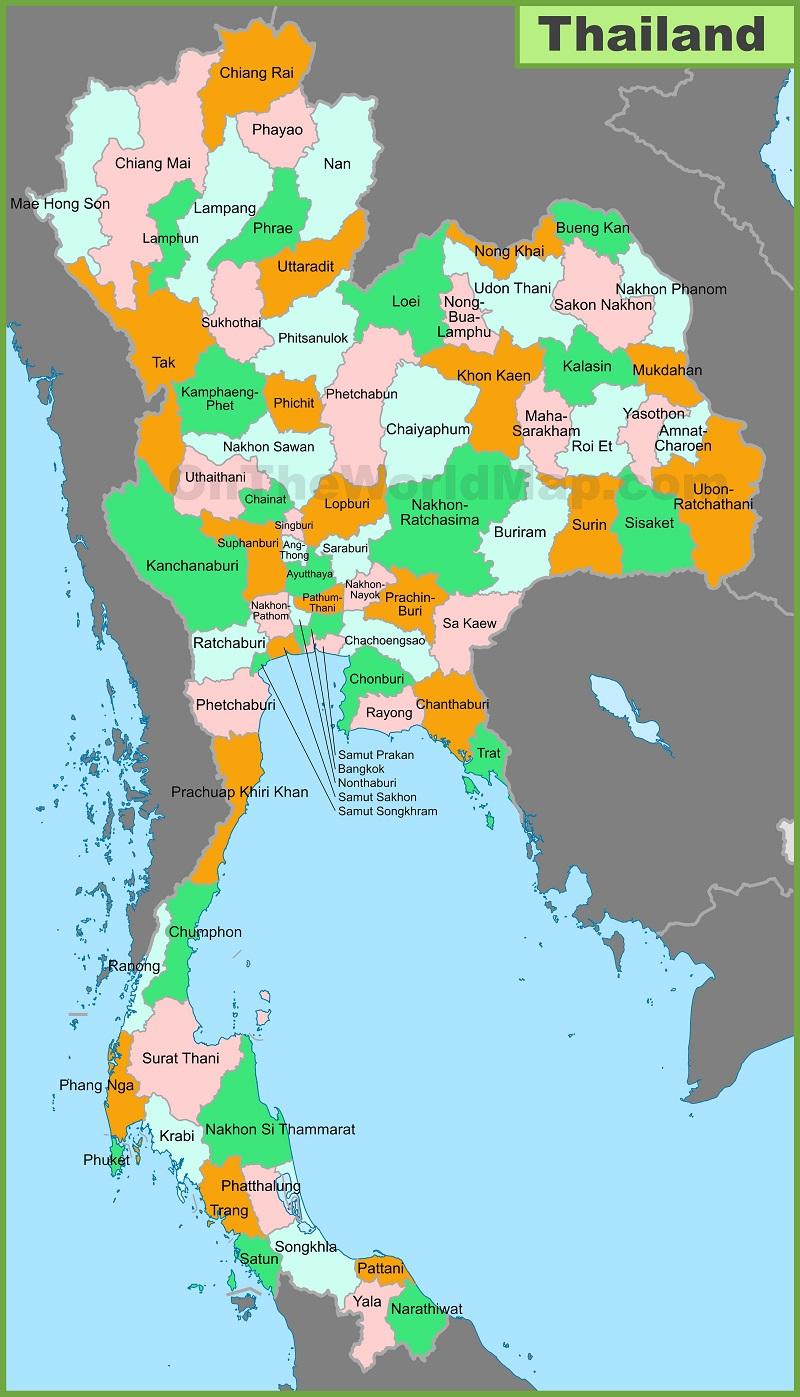 Bản đồ địa lý Thái Lan