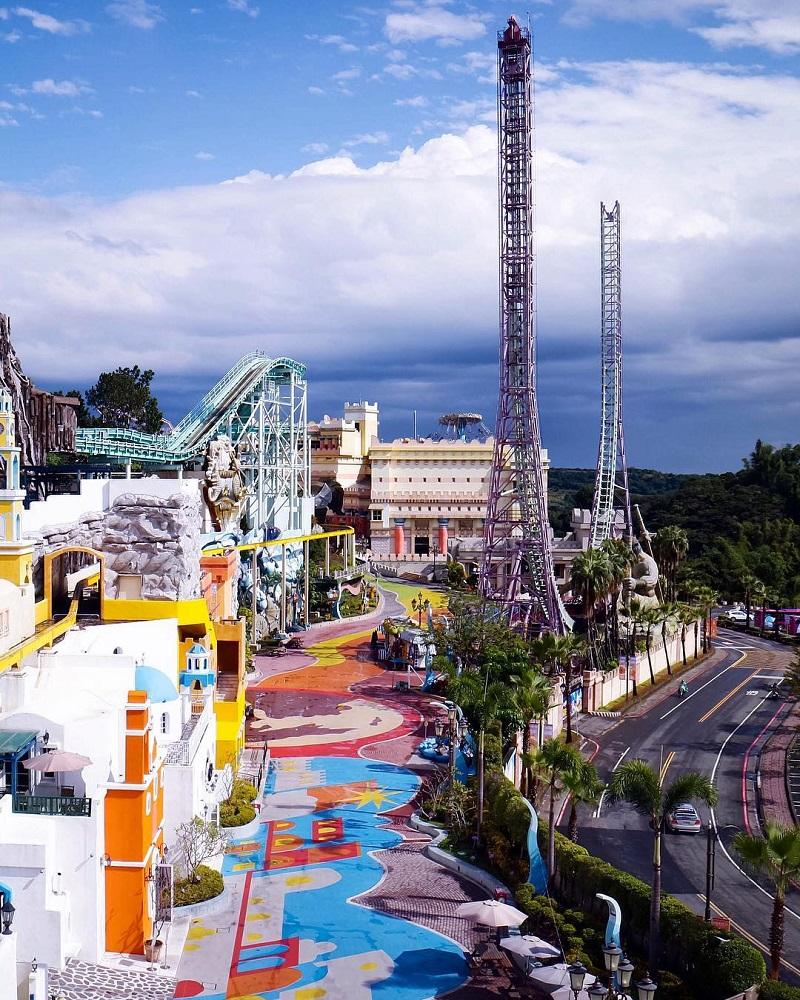 Công viên E-DA Theme Park với rất nhiều các trò chơi cảm giác mạnh