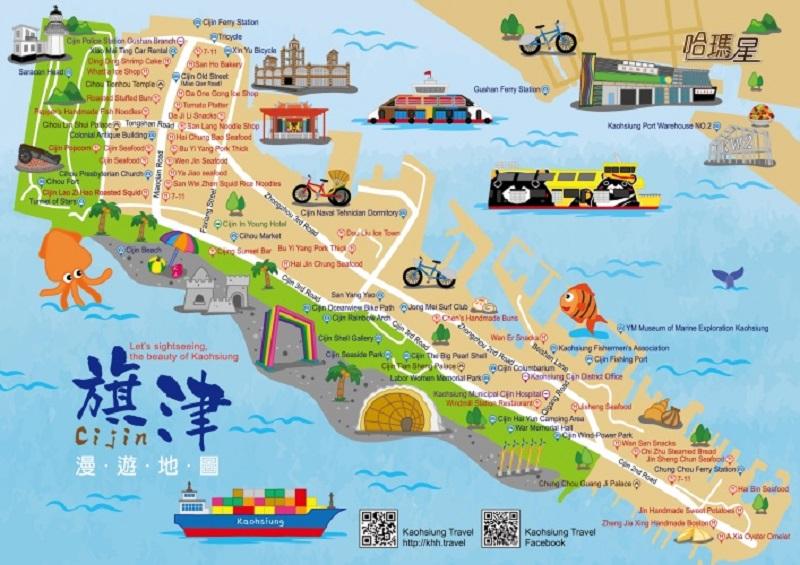 Bản đồ du lịch Cao Hùng