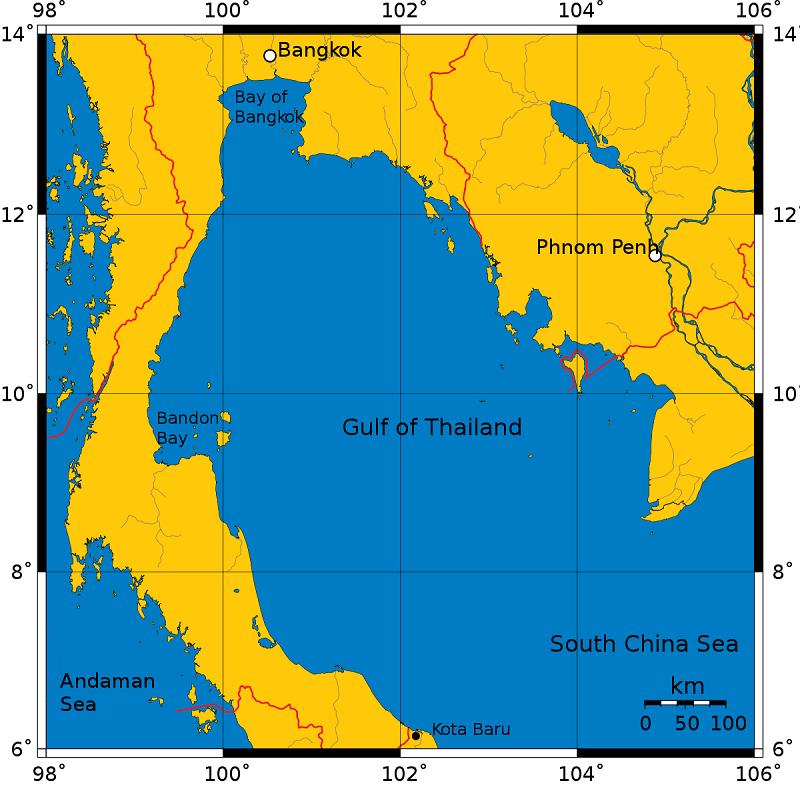 bản đồ vịnh thái lan
