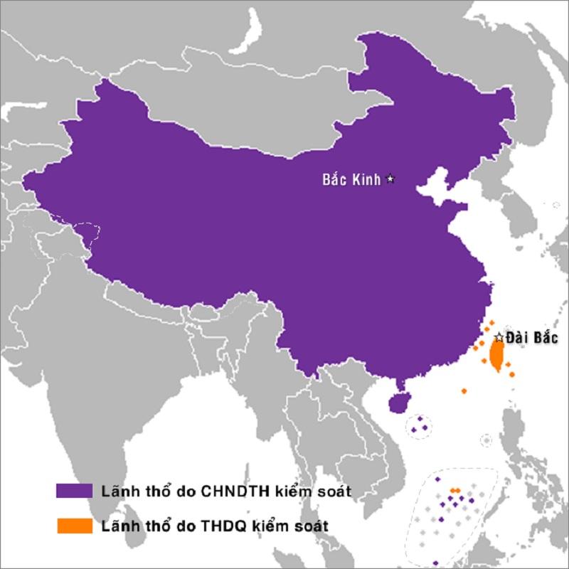 Vị trí lãnh thổ của Trung Quốc và Đài Loan