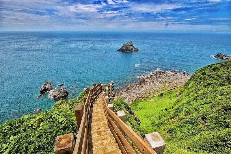 Hòn đảo Cijin khi nhìn từ trên cao