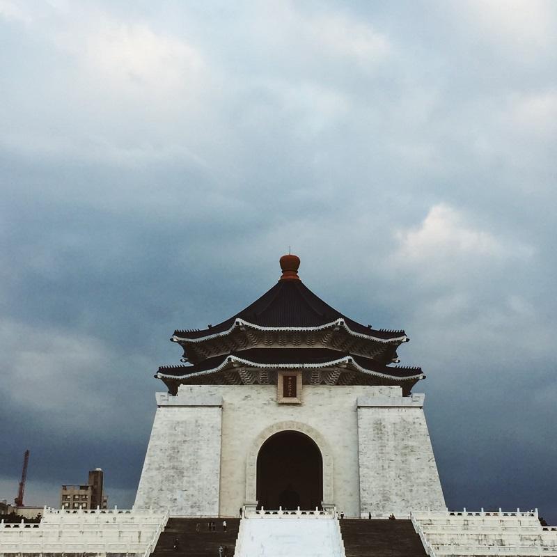Quang cảnh bên ngoài đài tưởng niệm Tưởng Giới Thạch