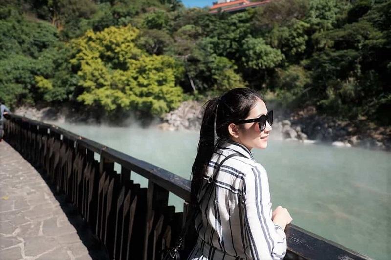 Một trong những góc chụp hình đẹp ở suối nước nóng Xinbeitou