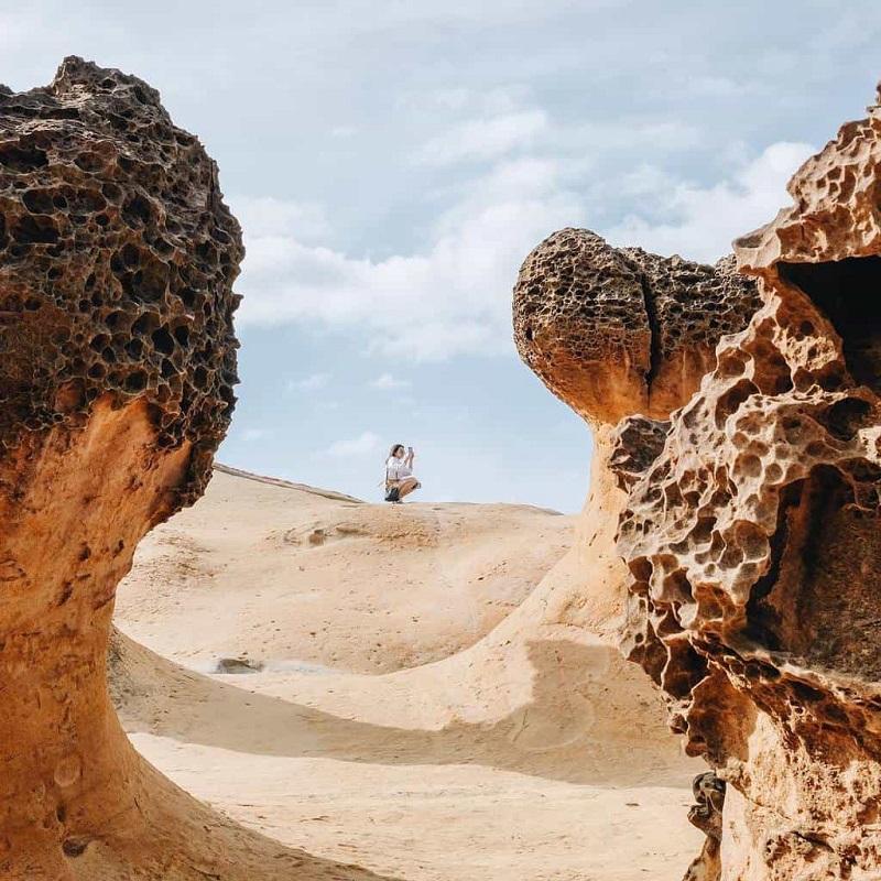 Công viên địa chất Dã Liễu với những di tích hóa thạch nhiều hình dáng khác nhau