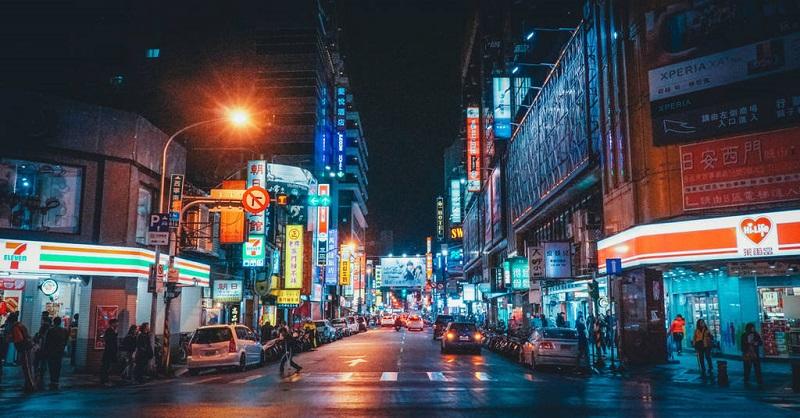 Khu mua sắm Tây Môn Đình về đêm